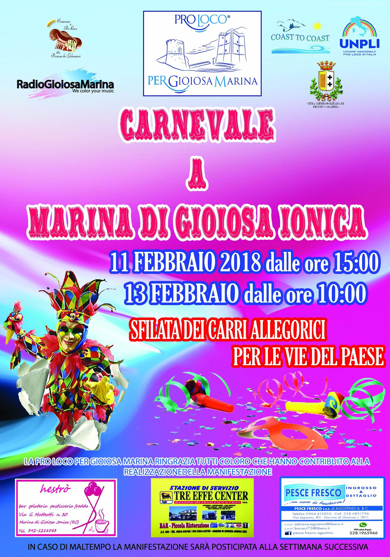 Marina Di Gioiosa Ionica Una Domenica All Insegna Del Carnevale